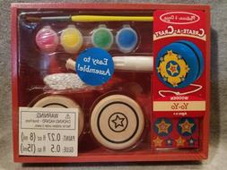 MELISSA AND DOUG CREATE A CRAFT WOODEN Yo-yo - NEW - FOR AGE