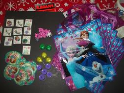 Disney Frozen Party Supplies Tote Bags Stickers Tattoos Ring