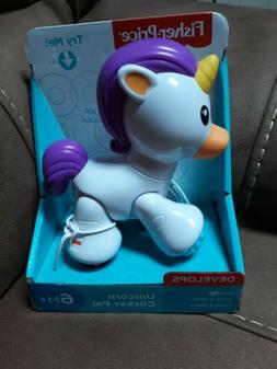 Fisher-Price Unicorn Clicker Pal Toy White Ages 6 Months +