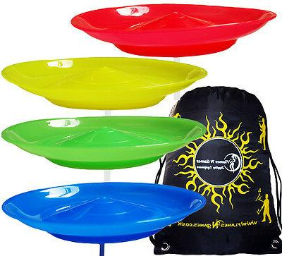 spinning plates set of 4 plates travel