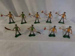 Britains Models Zoo Keepers Workers with Brooms