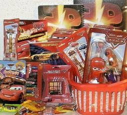 NEW DISNEY CARS EASTER TOY GIFT BASKET SCHOOL SUPPLIES toys