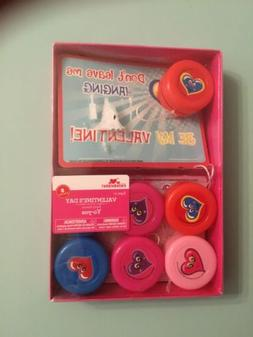 Set Of 8 Valentine's Day Cards With Yo Yos Party Favors Ki